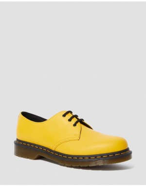 Black Friday Sale Dr. Martens 1461 SMOOTH LEATHER OXFORD SHOES - YELLOW SMOOTH