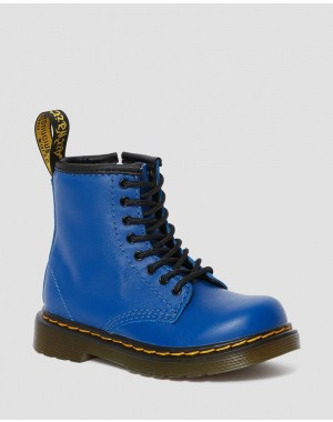 Black Friday Sale Dr. Martens TODDLER 1460 LEATHER LACE UP BOOTS - BLUE ROMARIO