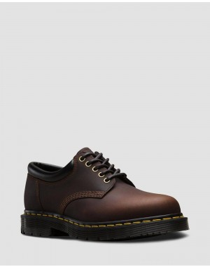 Black Friday Sale Dr. Martens 8053 DM'S WINTERGRIP LEATHER CASUAL SHOES - COCOA SNOWPLOW