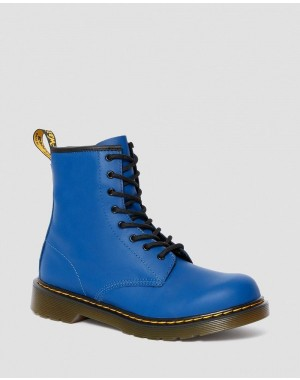 YOUTH 1460 LEATHER LACE UP BOOTS - BLUE ROMARIO