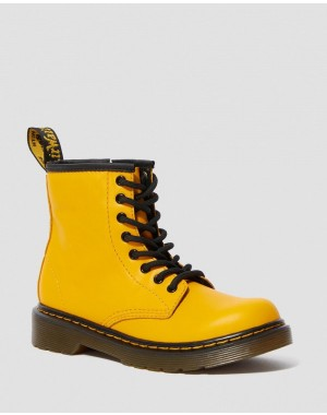 Dr.Martens JUNIOR 1460 LEATHER LACE UP BOOTS - YELLOW ROMARIO - Sale