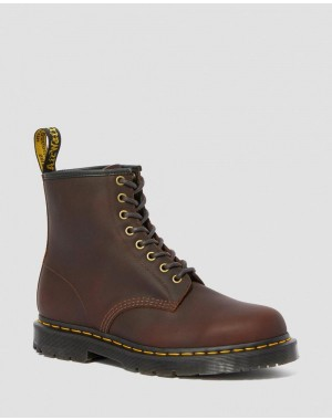 Black Friday Sale Dr. Martens 1460 DM'S WINTERGRIP LACE UP BOOTS - COCOA SNOWPLOW