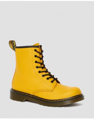 YOUTH 1460 LEATHER LACE UP BOOTS - YELLOW ROMARIO