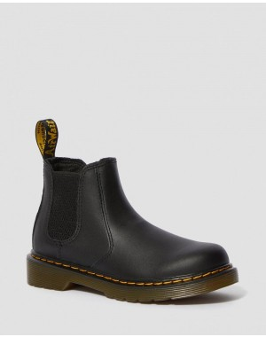 Black Friday Sale Dr. Martens JUNIOR 2976 SOFTY T LEATHER CHELSEA BOOTS - BLACK SOFTY T