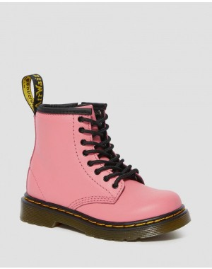 Black Friday Sale Dr. Martens TODDLER 1460 LEATHER LACE UP BOOTS - ACID PINK ROMARIO