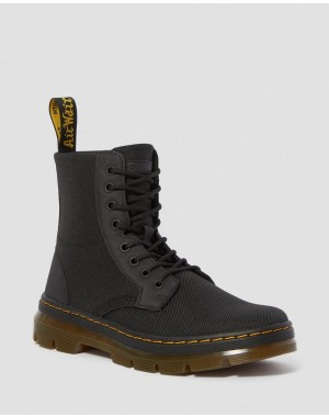 Black Friday Sale Dr. Martens COMBS POLY CASUAL BOOTS - BLACK EXTRA TOUGH POLY+RUBBERY