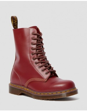 Black Friday Sale Dr. Martens 1490 VINTAGE MADE IN ENGLAND MID CALF BOOTS - OXBLOOD QUILON
