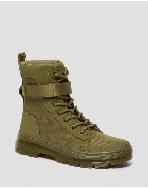 Black Friday Sale Dr. Martens COMBS TECH WOMEN'S EXTRA TOUGH CASUAL BOOTS - DMS OLIVE EXTRA TOUGH POLY+AJAX