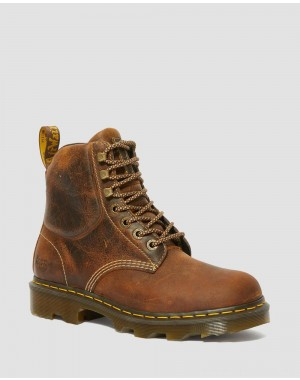 Black Friday Sale Dr. Martens CROFTON LIGHTWEIGHT WORK BOOTS - TAN GREENLAND