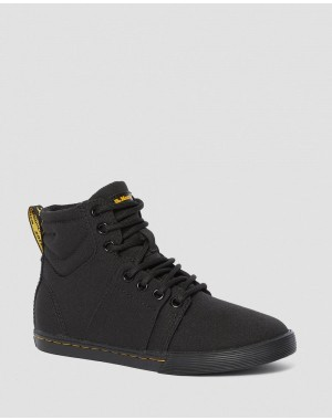 Dr.Martens JUNIOR ROZARYA CANVAS CASUAL BOOTS - BLACK ROMARIO - Sale