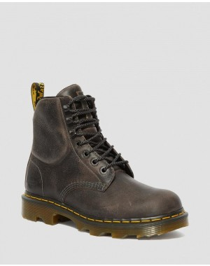 Black Friday Sale Dr. Martens CROFTON LIGHTWEIGHT WORK BOOTS - BLACK GREENLAND