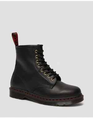 Black Friday Sale Dr. Martens 1460 CHINESE NEW YEAR LEATHER LACE UP BOOTS - BLACK NAPPA-HAIR ON
