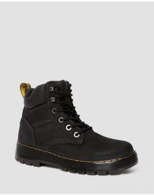 Black Friday Sale Dr. Martens GABION WORK BOOTS - BLACK PIT QUARTER