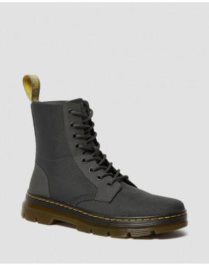 Black Friday Sale Dr. Martens COMBS POLY CASUAL BOOTS - CHARCOAL EXTRA TOUGH POLY+RUBBERY