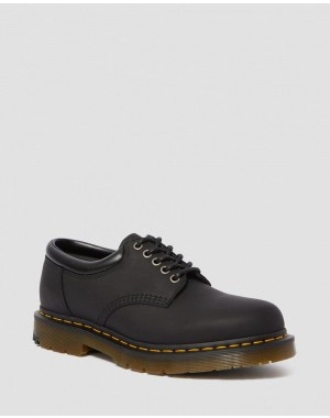 8053 DM'S WINTERGRIP LEATHER CASUAL SHOES - BLACK SNOWPLOW