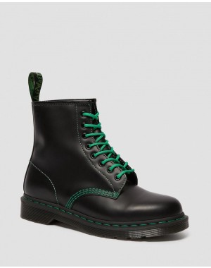Black Friday Sale Dr. Martens 1460 CONTRAST STITCH SMOOTH LEATHER BOOTS - BLACK SMOOTH