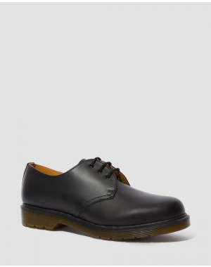 Black Friday Sale Dr. Martens 1461 PLAIN WELT SMOOTH LEATHER OXFORD SHOES - BLACK SMOOTH