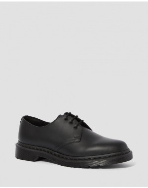 Black Friday Sale Dr. Martens 1461 MONO SMOOTH LEATHER OXFORD SHOES - BLACK SMOOTH
