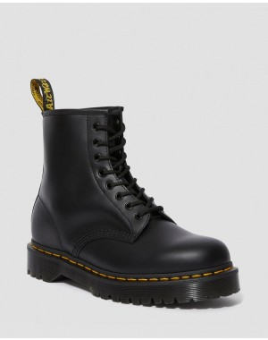 Black Friday Sale Dr. Martens 1460 BEX SMOOTH LEATHER PLATFORM BOOTS - BLACK SMOOTH