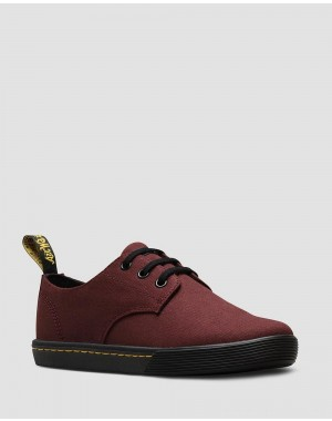 Black Friday Sale Dr. Martens SANTANITA WOMEN'S CANVAS CASUAL SHOES - OLD OXBLOOD CANVAS