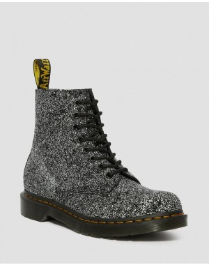 Black Friday Sale Dr. Martens 1460 PASCAL LEATHER SPLATTER PRINT BOOTS - BLACK SPLATTER CHAOS