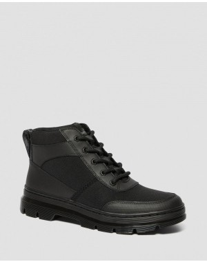 Black Friday Sale Dr. Martens BONNY TECH POLY CASUAL BOOTS - BLACK ELEMENT-POLY RIP STOP