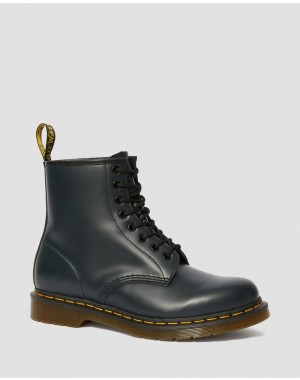 Black Friday Sale Dr. Martens 1460 SMOOTH LEATHER LACE UP BOOTS - NAVY SMOOTH