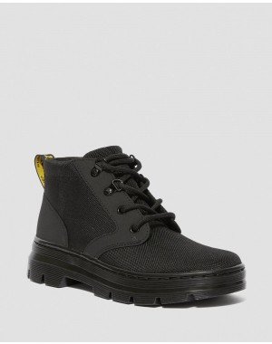 Black Friday Sale Dr. Martens BONNY WOMEN'S POLY CASUAL BOOTS - BLACK EXTRA TOUGH POLY+AJAX