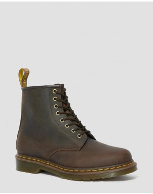 Dr.Martens 1460 CRAZY HORSE LEATHER LACE UP BOOTS - GAUCHO CRAZY HORSE - Sale