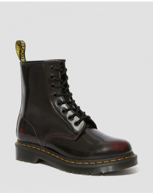 Dr.Martens 1460 WOMEN'S ARCADIA LEATHER LACE UP BOOTS - CHERRY RED ARCADIA - Sale