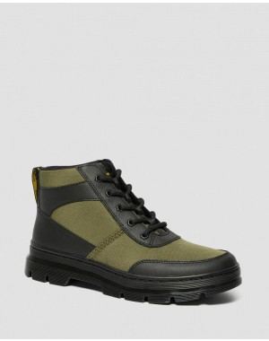 Black Friday Sale Dr. Martens BONNY TECH POLY CASUAL BOOTS - BLACK-DMS OLIVE ELEMENT-POLY RIP STOP