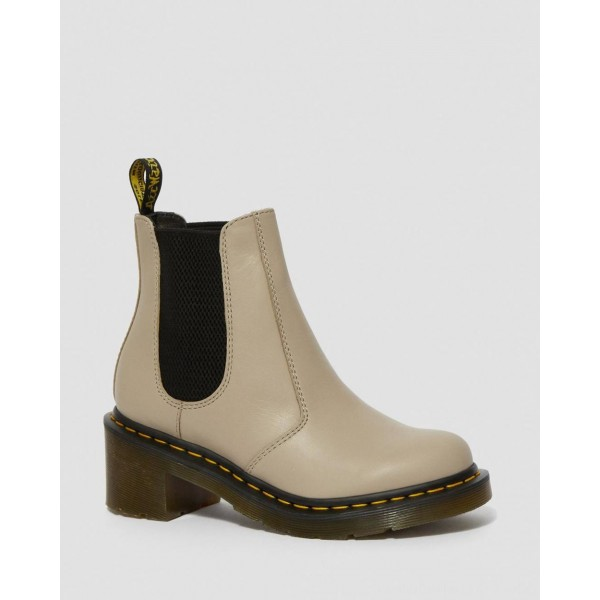 Dr.Martens CADENCE WOMEN'S LEATHER HEELED CHELSEA BOOTS - NATURAL WANAMA - Sale