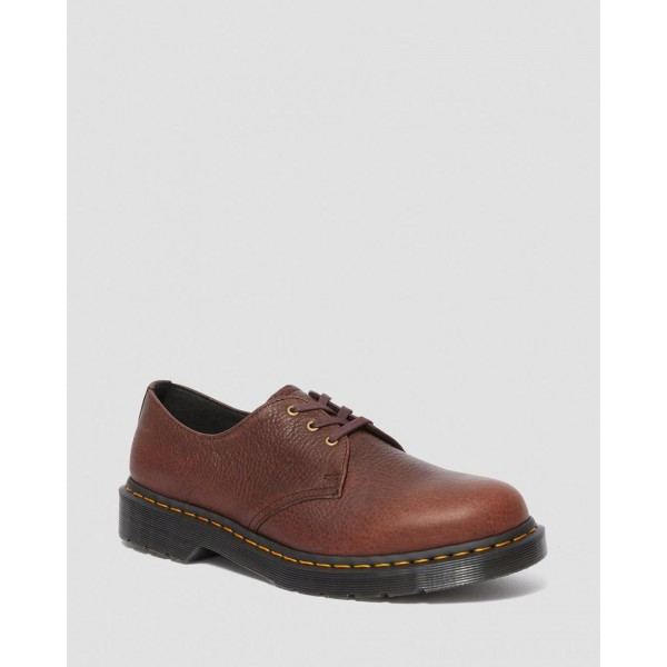 Black Friday Sale Dr. Martens 1461 AMBASSADOR LEATHER OXFORD SHOES - CASK AMBASSADOR