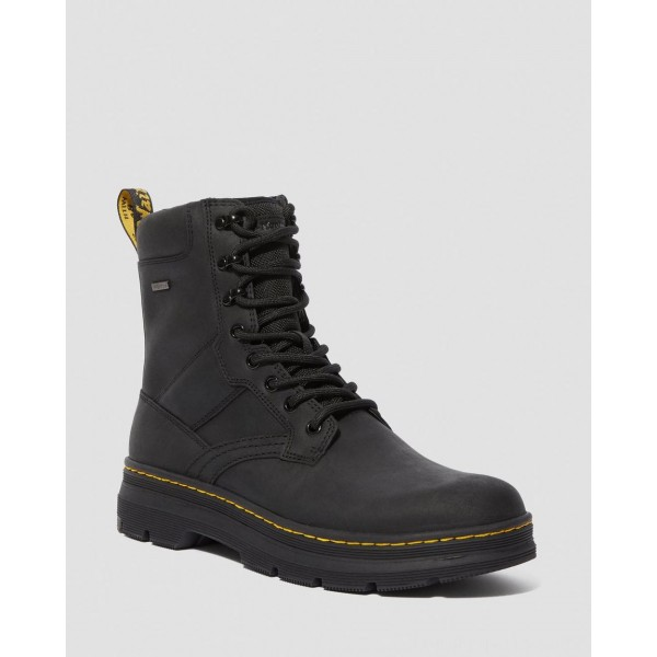 Black Friday Sale Dr. Martens IOWA WATERPROOF POLY CASUAL BOOTS - BLACK REPUBLIC+EXTRA TOUGH NYLON