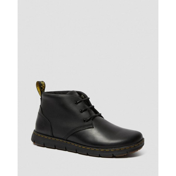 Black Friday Sale Dr. Martens RHODES MEN'S LEATHER CHUKKA BOOTS - BLACK BERKLEY