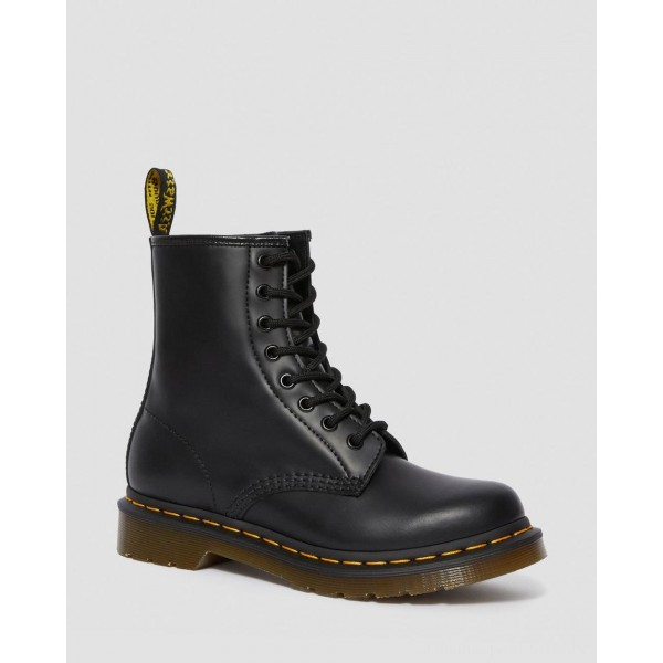 Black Friday Sale Dr. Martens 1460 WOMEN'S SMOOTH LEATHER LACE UP BOOTS - BLACK SMOOTH