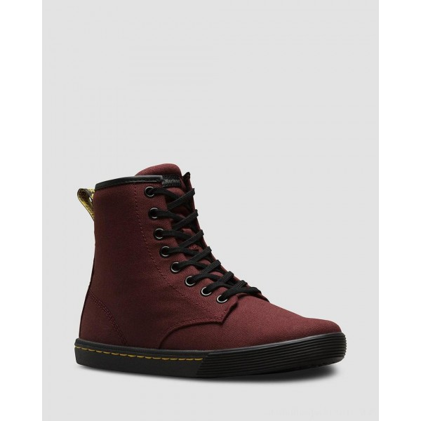 SHERIDAN WOMEN'S CANVAS CASUAL BOOTS - OLD OXBLOOD CANVAS