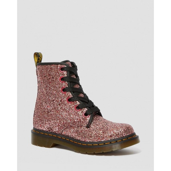 Dr.Martens 1460 WOMEN'S CHUNKY GLITTER LACE UP BOOTS - PALE PINK CHUNKY GLITTER - Sale