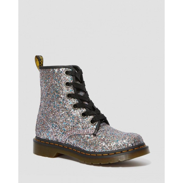 Dr.Martens 1460 WOMEN'S CHUNKY GLITTER LACE UP BOOTS - MULTI BLUE CHUNKY GLITTER - Sale