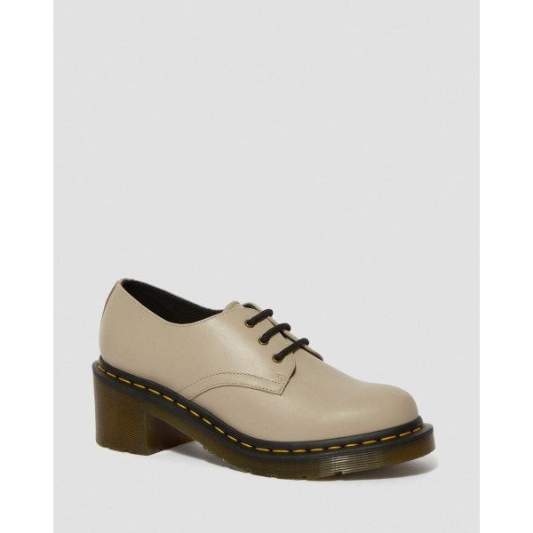 Black Friday Sale Dr. Martens AMORY WOMEN'S LEATHER HEELED SHOES - NATURAL WANAMA