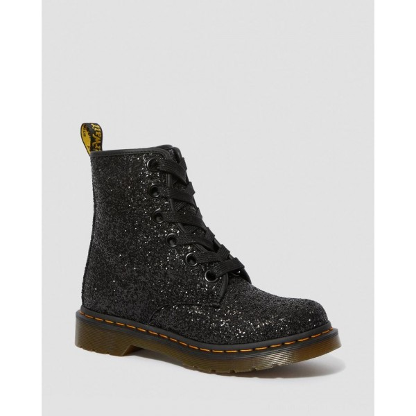 Dr.Martens 1460 WOMEN'S CHUNKY GLITTER LACE UP BOOTS - BLACK CHUNKY GLITTER - Sale