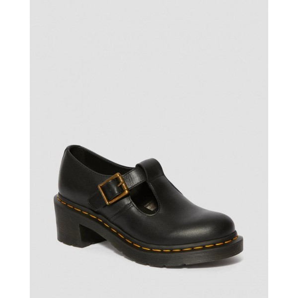 Black Friday Sale Dr. Martens SOPHIA WOMEN'S LEATHER HEELED MARY JANE SHOES - BLACK WANAMA