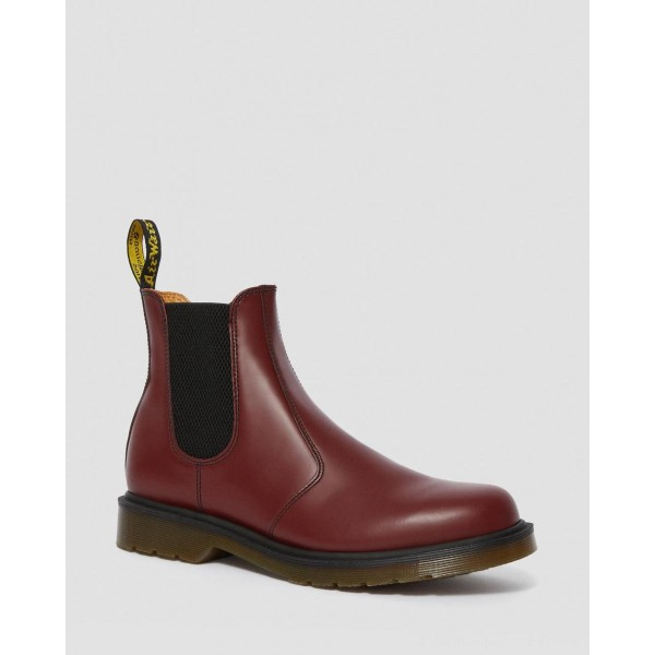 Dr.Martens 2976 SMOOTH LEATHER CHELSEA BOOTS - CHERRY RED SMOOTH - Sale