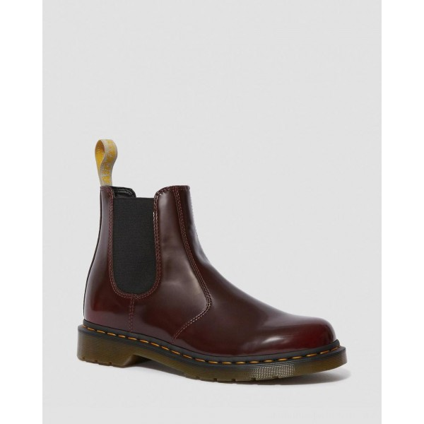 Dr.Martens VEGAN 2976 CHELSEA BOOTS - CHERRY RED OXFORD RUB OFF - Sale