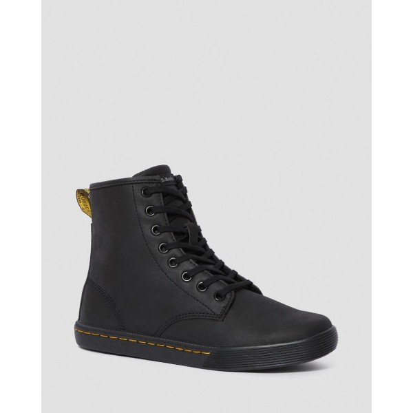 Dr.Martens SHERIDAN WOMEN'S MATTE CASUAL BOOTS - BLACK MOHAWK NON WOVEN SYNTHETIC - Sale