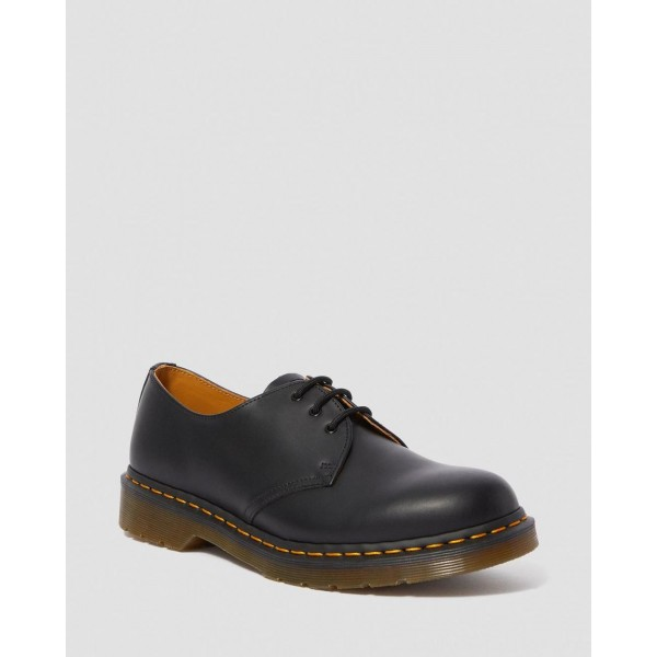 Black Friday Sale Dr. Martens 1461 SMOOTH LEATHER OXFORD SHOES - BLACK SMOOTH