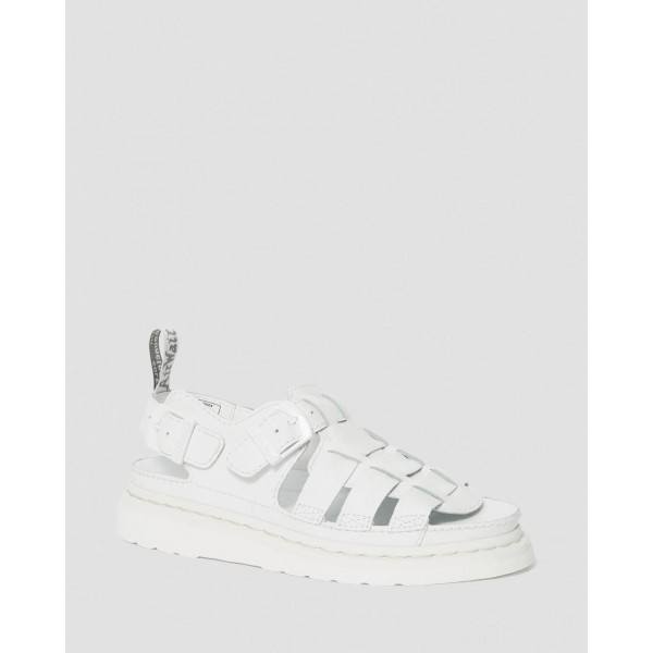 Dr.Martens 8092 MONO SOFT LEATHER FISHERMAN SANDALS - WHITE SOFTY T - Sale