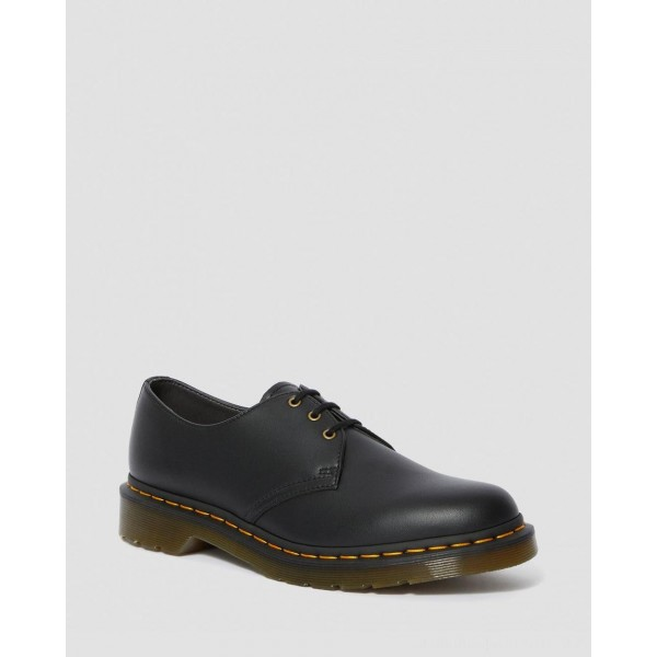 Black Friday Sale Dr. Martens VEGAN 1461 FELIX OXFORD SHOES - BLACK FELIX RUB OFF