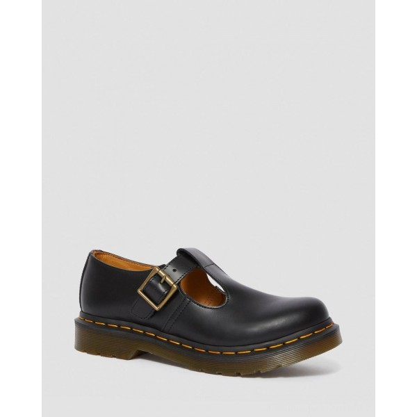 Dr.Martens POLLEY SMOOTH LEATHER MARY JANES - BLACK SMOOTH - Sale