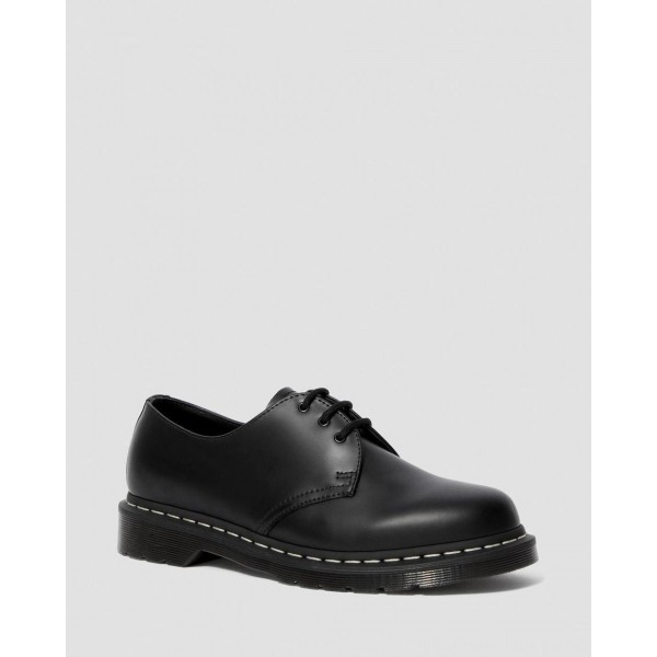 Dr.Martens 1461 CONTRAST STITCH SMOOTH LEATHER OXFORD SHOES - BLACK SMOOTH - Sale